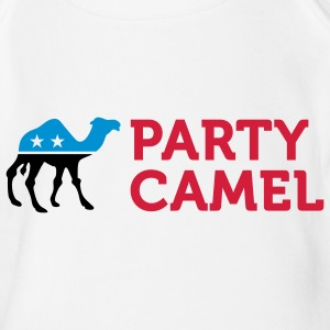 Political Party Animals: Camel Shirts - Organic Short-sleeved Baby Bodysuit