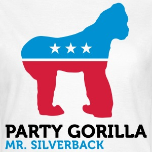 Politiske Party Animals: Gorilla T-skjorter - T-skjorte for kvinner
