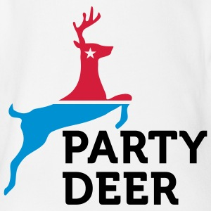 Political Party Animals: Reindeer Shirts - Organic Short-sleeved Baby Bodysuit