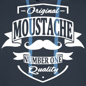 Moustache Sweat-shirts - Sweat-shirt à capuche Premium pour hommes