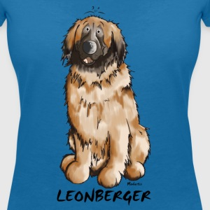 Leon the Leonberger T-Shirts - Women's V-Neck T-Shirt
