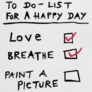 LOVEshirt Happy Day To Do List (Painters) - Frauen Kontrast-T-Shirt