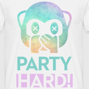 Hvid Party hard T-shirts - Herre-T-shirt