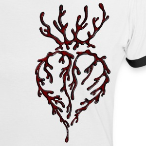Bleeding Heart T-Shirts - Frauen Kontrast-T-Shirt