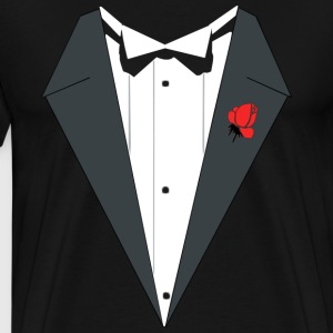 TUXEDO SUIT Weeding - Men's Premium T-Shirt