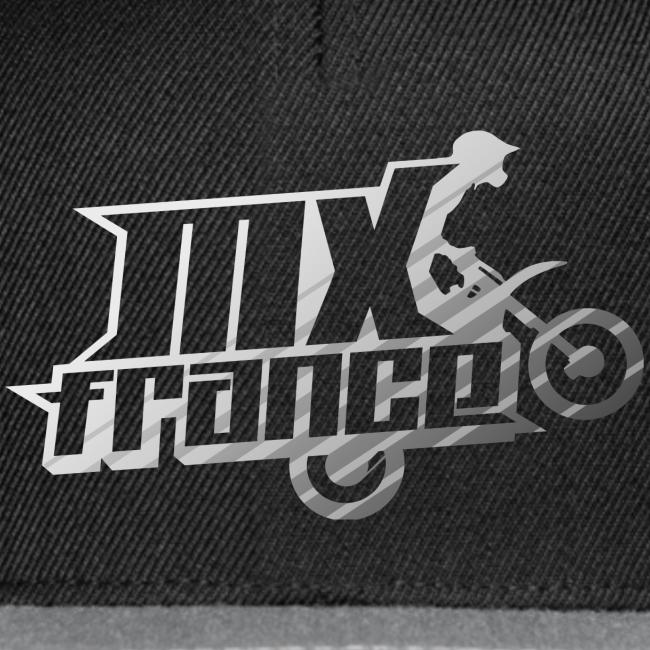 Logo Silver Tilt Stripes