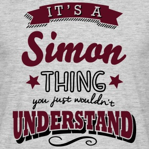 its a simon name surname thing - Männer T-Shirt