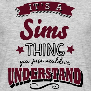 its a sims name surname thing - Männer T-Shirt