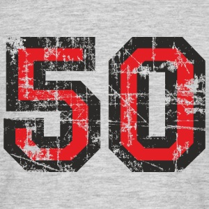 Nummer 50 Femti 50th Birthday Design (NO) T-skjorter - T-skjorte for menn