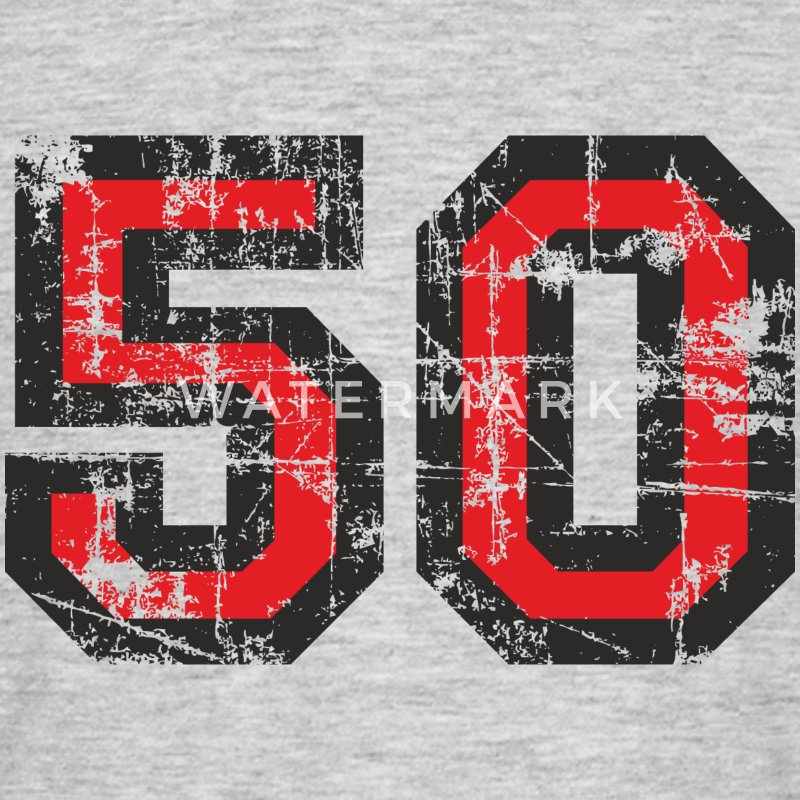 Number 50 Fifty 50th Birthday Design T-Shirts - Men's T-Shirt