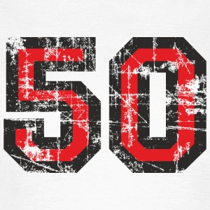 Number 50 Fifty 50th Birthday Design T-Shirts - Women's T-Shirt
