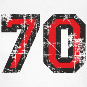 Nummer 70 Seventy 70th Birthday Design (DK) T-shirts - Dame-T-shirt