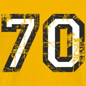 Nummer 70 Seventy 70th Birthday Design (DK) T-shirts - Herre premium T-shirt