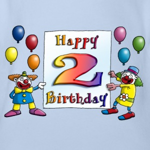 clowns_happy_birthday_a_2 T-Shirts - Baby Bio-Kurzarm-Body