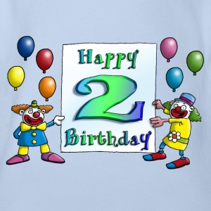 clowns_happy_birthday_b_2 T-Shirts - Baby Bio-Kurzarm-Body