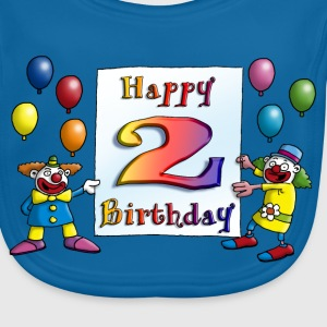 clowns_happy_birthday_a_2 Accessoires - Baby Bio-Lätzchen