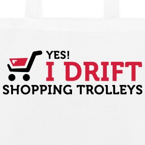 Yes, I drift with shopping cart in the supermarket! Bags & Backpacks - EarthPositive Tote Bag