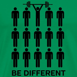Be Different - Lift Heavy Shit T-shirts - Mannen Premium T-shirt