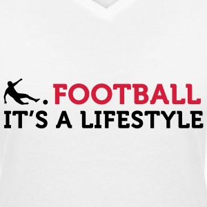 Football Quotes: Football is a way of life T-Shirts - Women's V-Neck T-Shirt