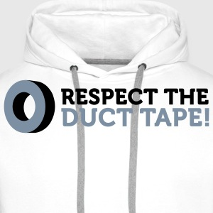 Respect the Duct Tape! Sweaters - Mannen Premium hoodie