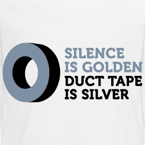 Silence is golden. Duct tape is silver. Long Sleeve Shirts - Teenagers' Premium Longsleeve Shirt