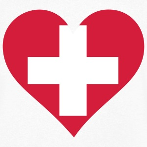 A heart for Switzerland T-Shirts - Men's V-Neck T-Shirt