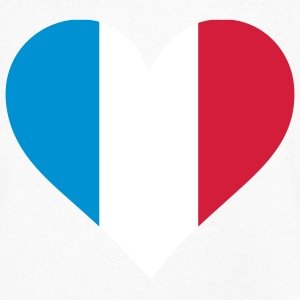 A heart for France T-Shirts - Men's V-Neck T-Shirt