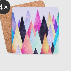 Hipster triangles (geometry) Abstract Mountains  Mugs & Drinkware - Coasters (set of 4)