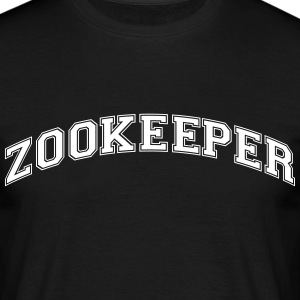 zookeeper college style curved logo - Men's T-Shirt