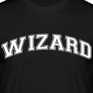 wizard college style curved logo - Men's T-Shirt