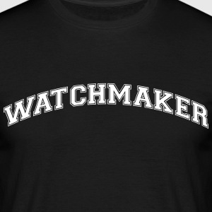 watchmaker college style curved logo - Men's T-Shirt