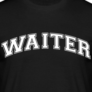 waiter college style curved logo - Men's T-Shirt