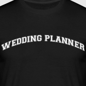 wedding planner college style curved log - Men's T-Shirt