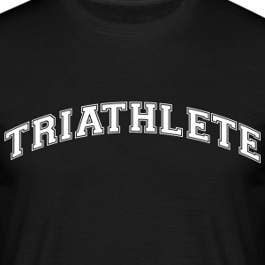triathlete college style curved logo - Men's T-Shirt