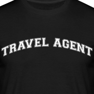 travel agent college style curved logo - Men's T-Shirt