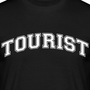 tourist college style curved logo - Männer T-Shirt