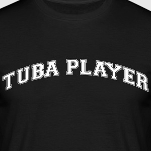 tuba player college style curved logo - Men's T-Shirt