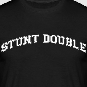 stunt double college style curved logo - Männer T-Shirt