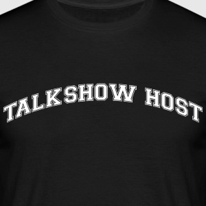 talkshow host college style curved logo - Men's T-Shirt