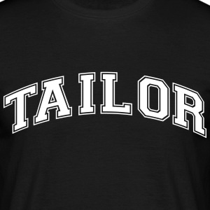 tailor college style curved logo - Men's T-Shirt