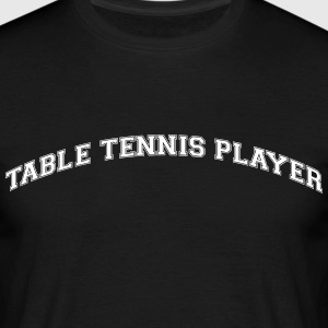table tennis player college style curved - Männer T-Shirt
