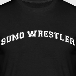 sumo wrestler college style curved logo - Men's T-Shirt