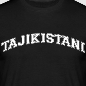 tajikistani  college style curved logo - Men's T-Shirt