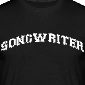 songwriter college style curved logo - Männer T-Shirt