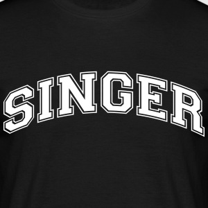 singer college style curved logo - Men's T-Shirt