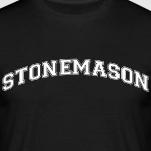 stonemason college style curved logo - Men's T-Shirt