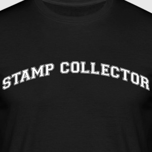 stamp collector college style curved log - Men's T-Shirt