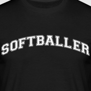 softballer college style curved logo - Men's T-Shirt