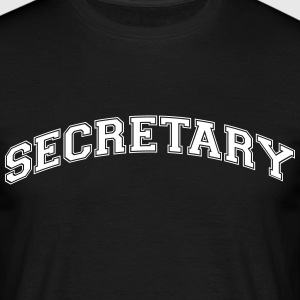 secretary college style curved logo - Men's T-Shirt