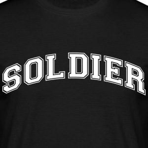 soldier college style curved logo - Men's T-Shirt